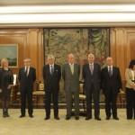 El Rey recibe a los nuevos miembros del Consejo Fiscal.
